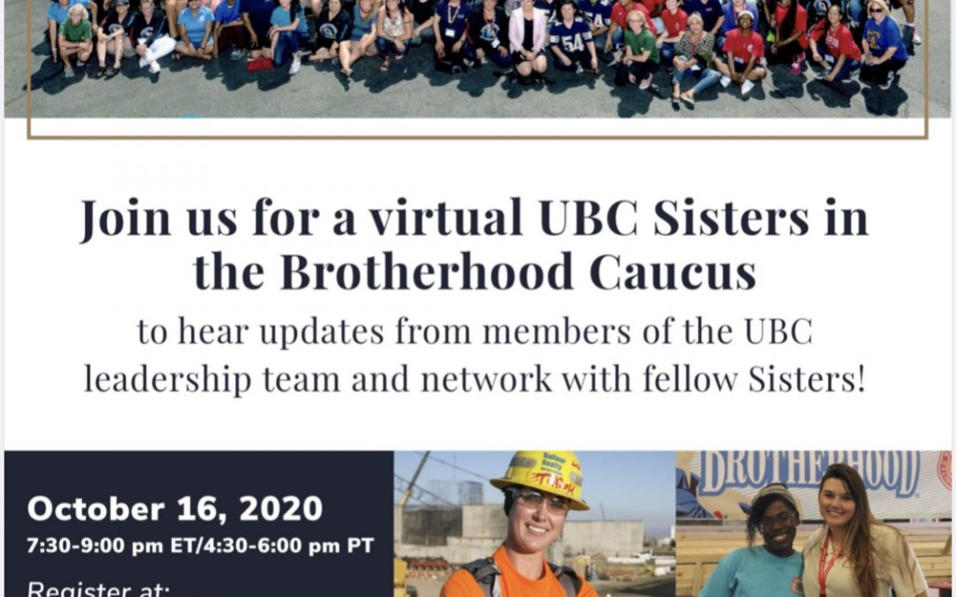 UBC Sisters Virtual Caucus and Tradeswomen Build Nations 2020